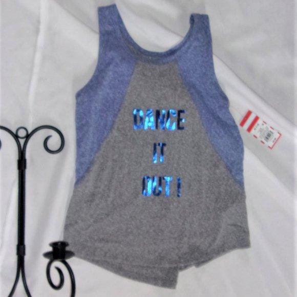 💝4/$15 NEW medium girls 7 / 8 shirt tank top gray